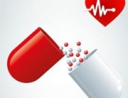 antiobiotic pill for heart health with heart image