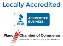 Better Business Bureau and Plano Chamber of Commerce logos Plano TX