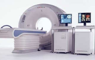 CT scan machine and equipment used by cardiologists in Plano TX